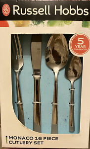 Russell Hobbs Monaco 16 Piece Cutlery Set Boxed Xmas Gift