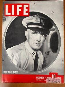 Vintage Life Magazine December 14, 1942. Coast Guard Skipper Cover, World War II