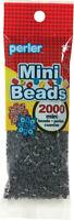 Mini Perler Beads 2000/Pkg-Dark Grey, Set Of 3