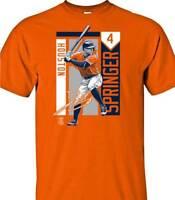 Houston Astros MLBPA George Springer #4 Color Block Youth Boys Tee Shirt Orange