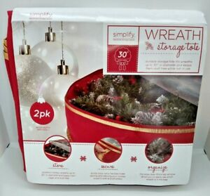 Simplify 30-Inch Wreath Bags in Red (Set of 2)