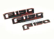 """2015-2017 FORD F150 """"ECOBEAST"""" RED & BLACK FENDER AND TAILGATE EMBLEMS SET"""
