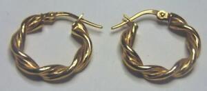 PAIR OF 9 CARAT GOLD  HOOP EARRINGS