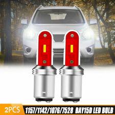 2X CANBUS 1157 1076 LED Turn Signal Brake Reverse Parking Tail Light Bulb White