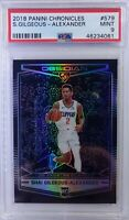 2018-19 Panini Obsidian Preview Shai Gilgeous-Alexander RC #579, Graded PSA 9