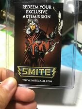 Smite Artemis Skin Card - For PC - PAX 2012 Unscratched