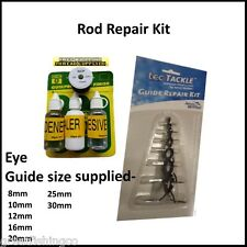 Rod Repair Kit Complete -  high build glue - rod whipping 7 piece eye guide set