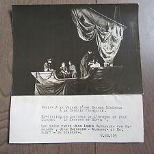 PHOTO DE PRESSE 1943 LA COMÉDIE FRANÇAISE LE SOULIER DE SATIN J.L BARRAULT