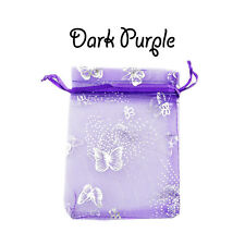 9 x 12 cm Butterfly Organza Gift Wedding Favour Bag Jewellery Pouch in 12 Colour