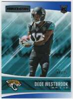 2017 Panini Rookies and Stars Red and Blue RC /25 #217 Dede Westbrook Jaguars