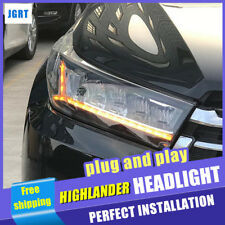 For Toyota Highlander 2017-2019 All LED Headlights assembly LED Low/High Beam