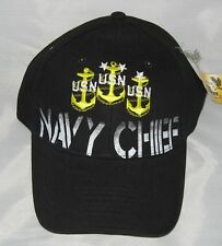 NEW U.S. Navy Chief Baseball cap hat. Black. 6177