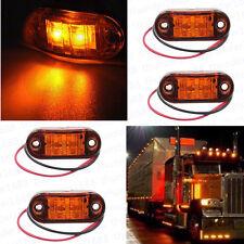 8x Truck Autos Van Trailers Lamps LED Side Marker Amber Light Indicator 12V 24V