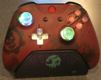 Limited Edition Gears of War Xbox One Controller with LED GLOWING MOD