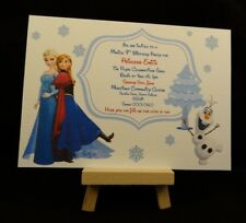 10 Personalised Childrens Party Invitations - Frozen