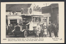 London Postcard - National Steam Bus at The King's Head, Bexley  RS7434