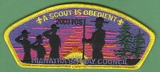 HIAWATHA SEAWAY COUNCIL 373 NEW YORK 2003 FOS OBEDIENT BOY SCOUT CSP PATCH S32