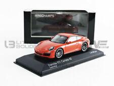 Porsche 911 Type 991 Phase II Carrera 4s 2016 Lava Orange 1/43 MINICHAMPS 410067