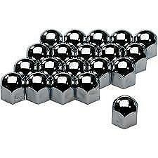 High Chrome Stainless Steel Wheel Nut Covers 17mm fits PEUGEOT