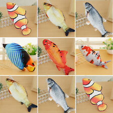 Electric Dancing Fish Kicker Cat Toy Wagging Realistic Moves Plush Acces
