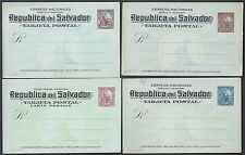 SALVADOR 1880s 1890s COLLECTION OF 16 POSTAL CARDS ALL MINT FOUR ARE JOINT WITH