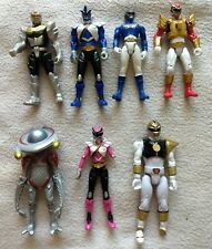 "power rangers action figures lot 3.75"", Samurai, Robo, white, blue"