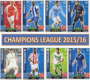 Topps Match Attax Champions League 2015 2016 15 16 choose your cards  #1 TO #234