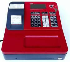 Casio Electronic Cash Register Se G1sc Unused Mint Cond With Keys Red