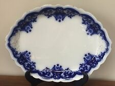 "Johnson Brothers THE BLUE DANUBE Flow Blue 18"" Oval Serving Platter"