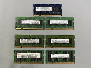 7 x Assorted DDR2 SODIMM RAM Modules | 512MB, 1GB and 2GB PC2