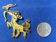 #2824 Golden Star Sign SAGITTARIUS ZODIAC Embroidery Iron On Applique Patch