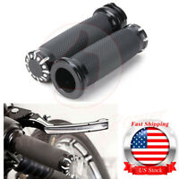 "1"" Motorcycle Handle Bar Hand Grips For Harley Road King  Electra Glide"