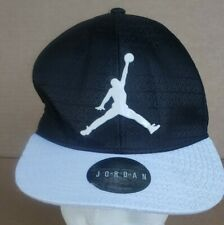 Nike Air Jordan Snapback Baseball Cap, Hat, Black/White, Youth adjustable