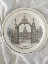 "Vintage Collector Plate Hanau Schloss Philippsruhe 9.5"""