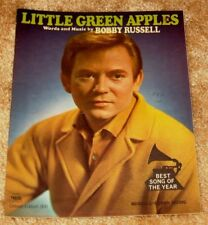 VINTAGE LITTLE GREEN APPLES BY BOBBY RUSSELL SONG OF THE YEAR SHEET MUSIC
