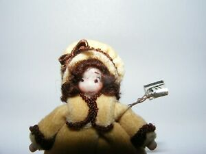 Artisan Dollhouse Miniature doll Ethel Hicks Angel Children GORGEOUS GIRL inCOAT