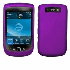 Hard Rubberized Case for Blackberry Torch 9800/9810 - Purple