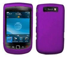 Hard Rubberized Case for Blackberry Torch 9800/9810 - Purple