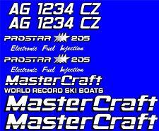 2 Color MasterCraft Prostar 205 EFI Full set #4 w/ Matching Registration Numbers