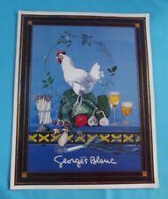 Ancien menu Grand Chef Georges Blanc Vonnas France Poulet de Bresse