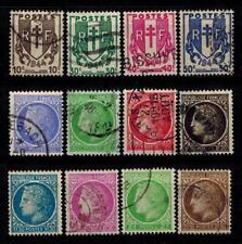 (b10) timbres France oblitérés n° 670/681 années 1945/47