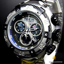 Invicta Reserve Thunderbolt Black MOP Swiss Silver Steel Chronograph Watch New
