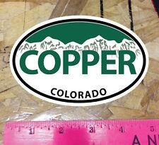 """COPPER Mountain Colorado Green Oval Sticker State Ski Snowboard - 5"""""""