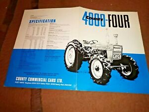County 4000 Four  tractor sales brochure 1969  4 pages