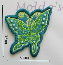 Beaded Sew Butterfly Embroidered Patch Applique Badge Patches Fabric Motif  #85