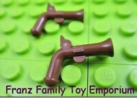 LEGO Pair Brown Weapon Flintlock Pistol Imperial Guard Armada Pirate