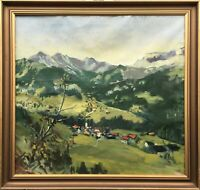 Weite Landschaft in Skandinavien Norwegen Schweden Nilsson signiert 93 x 97 cm