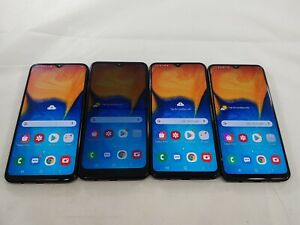 LOT of 4 Samsung Galaxy A20 32GB SM-A205U Assorted Carriers Smartphones A127L