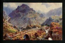 Tuck postcard United Kingdom Oilette Wales #7877 Tryfan Ogwen Bridge