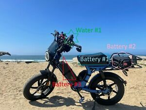 Electric bike dual battery ebike kit for extra battery SAFETY DPDT SWITCH XT60